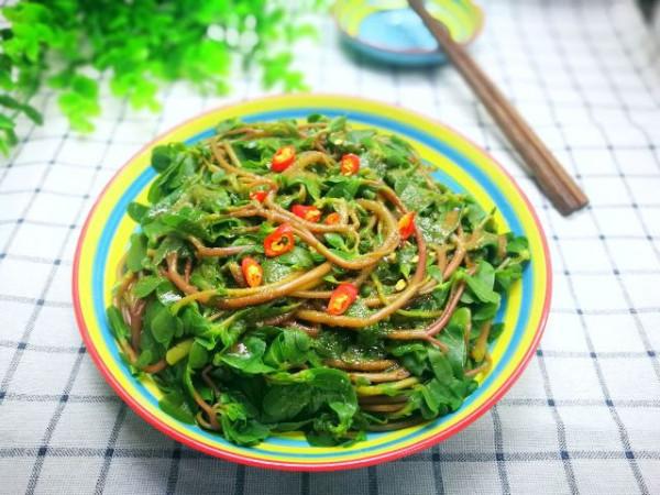 Salad rau sam nguội