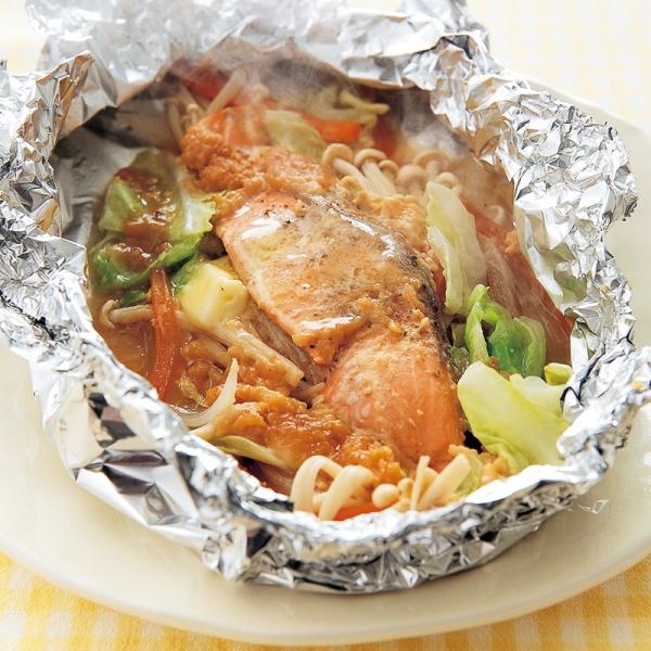 Cá hồi nướng rau củ kiểu Hokkaido (Chanchan yaki)