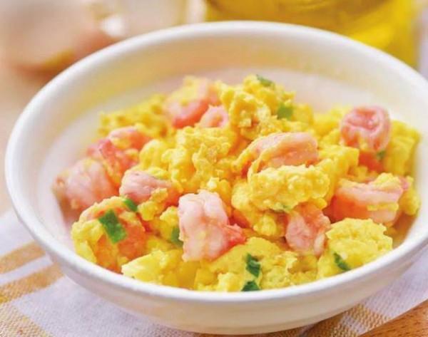 Tôm xào trứng